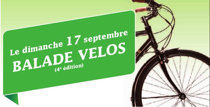Balade vélo interlocale – Dimanche 17 septembre à 10h